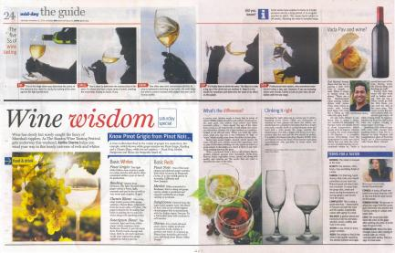 Sharing wine knowledge in Mid - Day