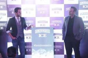 Ayushmann Khurrana and Bhavesh Somaya at the launch of Smirnoff ICE