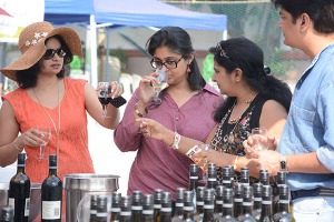 Visitors at Bandra Wine Festival