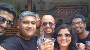 With Independence Brewing Company team.