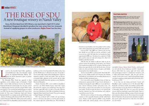 SDU Interview Sommelier magazine feb-mar