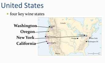 Wine map of US
