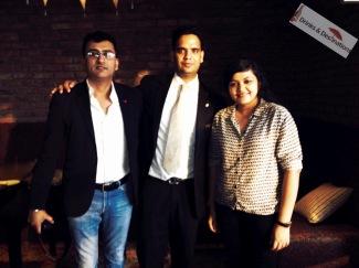 With Shailender Sandha, Director & CEO Flipsydee, and Sagar Nath, Sommelier, Sofitel Mumbai BKC