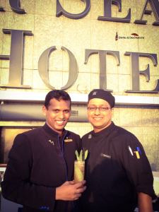 Mixologist Varun with Chef Abhishek