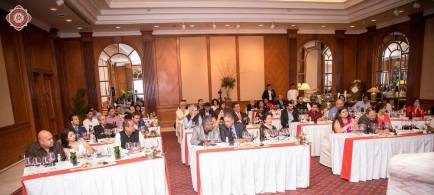 The selective group of 40 guests who attended the tasting