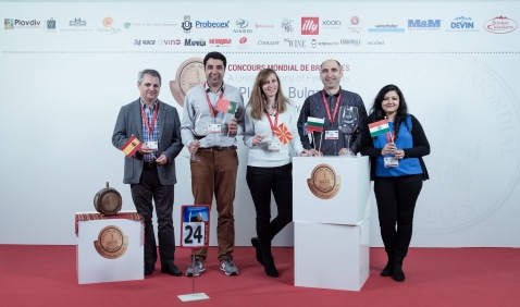 L to R: Javier Pascual from Spain, Carlos Alves from Portugal, Elena Miloshevska from Macedonia, and Nikolay Tsvetkov from Bulgaria