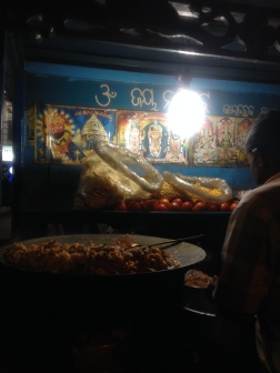Street food-Ghugooni chaat shop
