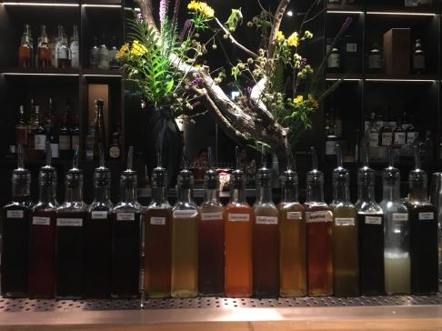Simple Syrups and juices at BAR MOOD