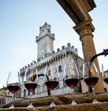 Tasting venue for Vino Nobile di Montepulciano